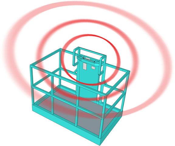 Illustration of a proximity sensing device