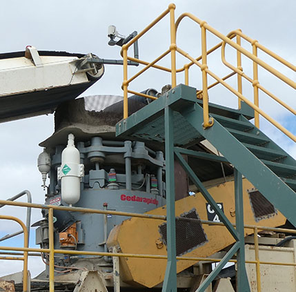 Example of a ElJay rollercone crusher