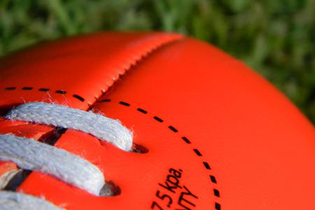 Close-up of AFL football