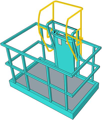 Illustration of a guarding barrier