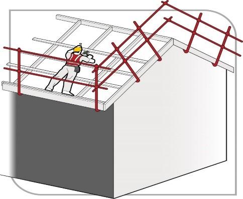 Illustration of person installing roof battens