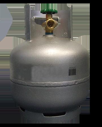 4kg galvanised gas cylinder