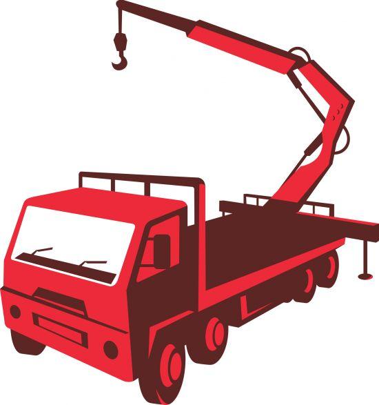 Image of truck mounted crane