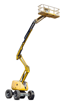 Articulated elevating work platform with telescopic boom